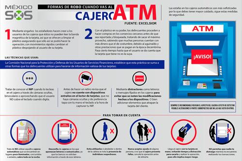 Robo en cajeros automáticos